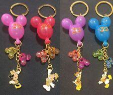 4x Disney Mickey&Minnie&Donald&Daisy Keyrings Key Rings/Chains Bag Charms New