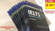 SELL GENERAL TRAINING CAMBRIDGE IELTS BOOK 4-13(4,5,6,7,8,9,10,11,12,13)WITH CD