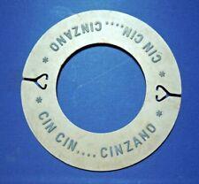 """DISCO IN PLASTICA PUBBLICITARIO """" CIN CIN .... CINZANO """" VINTAGE -"""