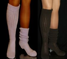 2 Flawed Slouch Socks Lilac Brown Long Sexy Warm Comfy Scrunchie Soccer