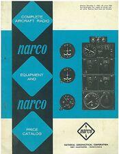 1965 NARCO  Aviation Radio Equipment  Catalog