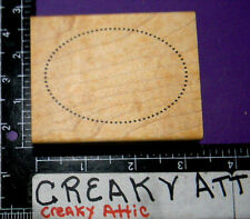 OVAL DOTTED FRAME RUBBER STAMP JUST FOR FUN