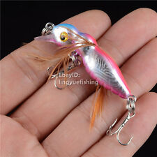 1PCS New LINGYUE Crankbait Freshwater Fishing Crap Bass Sinking Lure Bait Tackle