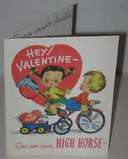 "1950's Valentine Card ""Hey Valentine! Get Off Your High Horse......"""