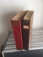 2 KABE Stabbinder (Lagerbücher) mit Blättern.