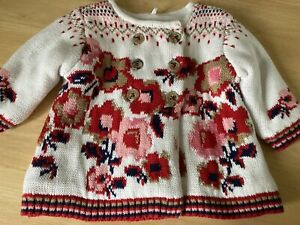 Baby Girls Thick Cardigan Age 0-3 Months