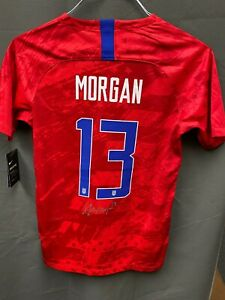 Alex Morgan Signed USA Women's Soccer Nike Jersey Autographed PSA/DNA COA Sz XL