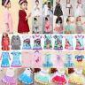 Kids Baby Girls Summer Dress Toddler Flower Cartoon Party Wedding Formal Clothes