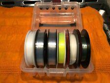 Plano Fishing Line Spool Box W/ Variety 6 Rolls Of Line Tackle