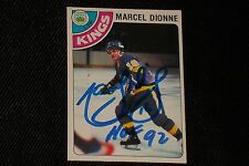 HOF MARCEL DIONNE 1978-79 O-PEE-CHEE SIGNED AUTOGRAPHED CARD #120 L.A. KINGS