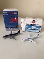 Schabak 1:600 Scale Boeing 737 Passenger Aeroplanes Set Of 2 BNIB