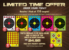 """155"" Range Shooting Pistol / Rifle Targets! Assorted! New Year's Limited Offer!"