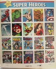 20 Marvel Comics SUPER HEROES 41¢ USPS Postage Stamps - MINT