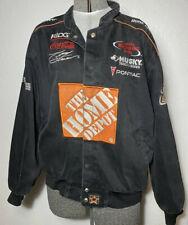 Mens Black Racing Coat Home Depot #20 Tony Stewart Size XL