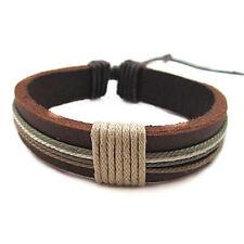 Women Men Leather Bracelet Bangle Charm Wristband Cuff Fashion Punk Jewelry