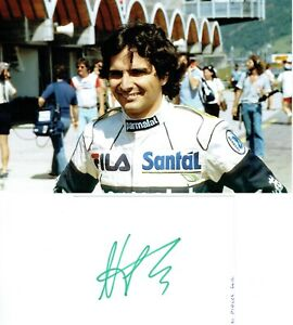 Nelson Piquet Autograph Signed Page Together With an 6x9 Photo AFTAL/UACC RD