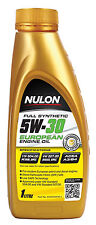 Box Of 6 Nulon Full Synthetic 5W30 Euro Engine Oil 1L EURO5W30-1