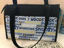 """BINGO ZIPPER BAG """" Snoopy Woodstoc """" HANDMADE 6 OUTSIDE  8 INSIDE MARKER POCKETS"""