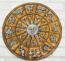 Vintage Zodiac Wall Hanging Plaque All 12 Signs 17 Inches Wide Retro Home Decor