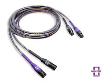 Analysis Plus Solo Crystal Oval XLR Audio Interconnect Cables 2 meter Pair