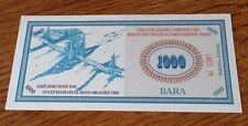 CROATIA  1000 Bara  2012  PNL  BARANJA REGION - PRIVATE ISSUE