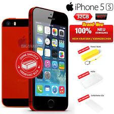 Neu Versiegelt Ohne Simlock APPLE iPhone 5s Red Rot 32GB Handy (1 Jahr Garantie)