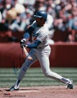 "Ken Kenny Landreaux Signed 8X10 Photo ""81 WSC"" Autograph Dodgers Swing COA"