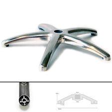 Tornello Fußkreuz Parti Ricambio Sedia Ufficio Rotante in Alluminio Cromo Nuovo