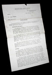 Ephemera - Letter from Darlington Rural District Council to All Tenants 1951