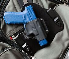 Black Leather Gun Holster for Glock 17 19 22 23 31 32 34
