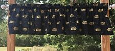 Handcrafted Curtain Valance Sewn From Star Wars Gold & Black Cotton Fabric