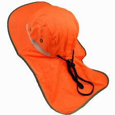 2 Pcs Neck Flap Boonie High Visibility Safety Reflective Bucket Hat Neon Orange