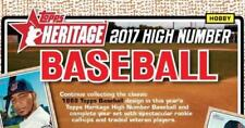 2017 HERITAGE HIGH COMPLETE BASE SET 501-700 BELLINGER RC