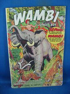 WAMBI JUNGLE BOY 6 VG F FICTION HOUSE 1950