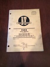 FORD I&T TRACTOR SHOP SERVICE REPAIR MANUAL BOOK 5000 FORDSON FSM FPM FMD