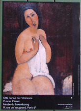 Modigliani•Nude Sitting with Chemise 1916•Luxembourg Museum•16x22 Poster O/P