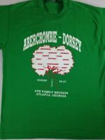Abercrombie Dorsey Family Reunion T-Shirt VTG 1995 Adult Large 90s Green Atlanta