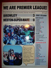 Bromley 3 Weston-Super-Mare 0 - Bromley FC champions - 2015 - souvenir print