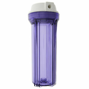 Clear Standard 10 x 2.5 Inch Water Filter Housing (1/4 FPT)