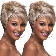 Women Fashion Short Layered Pixie Wigs Ombre Blonde Party Synthetic BOB Hair Wig