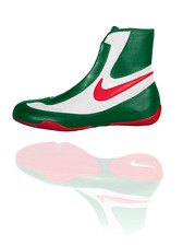 NEW Men's Nike Machomai Mid-Top Boxing Shoes Size: 11.5 Color: Red/White/Green