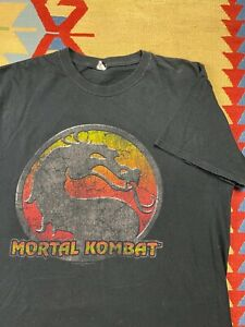 Vtg Mortal Kombat Graphic Tee Shirt Size XL