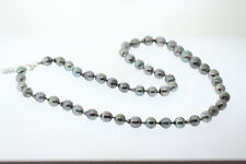 NEW 11-14mm Cultured Tahitian Pearl Opera Strand Necklace 30in. Sterling Clasp