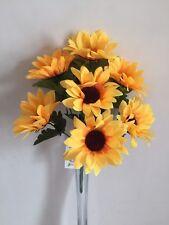 Artificial Sunflower Bouquet Faux Plante de jardin mariage Posy GRAVE FLEURS cimetière