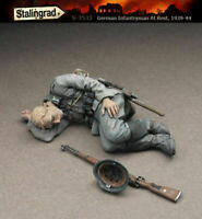 1/35 Scale Resin Figure kit German Infantryman at rest #2