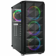 Rosewill ATX Mid Tower Gaming PC Computer Case with Dual Ring RGB LED Fans