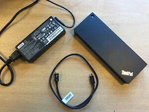 Lenovo ThinkPad Thunderbolt 3 Dock 40AC DBB9003L1 Dock - with PSU & USB C Lead