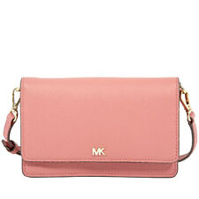 Michael Kors Pebbled Leather Convertible Crossbody Bag Rose Pink