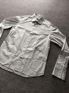 "Men's Canali Formal Stripe Shirt Size Size 16"" 41cm Large"