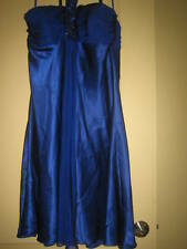 NWOT MARC BOUWER GLAMIT! BEADED SILK DRESS SZ.12 COBALT Blue